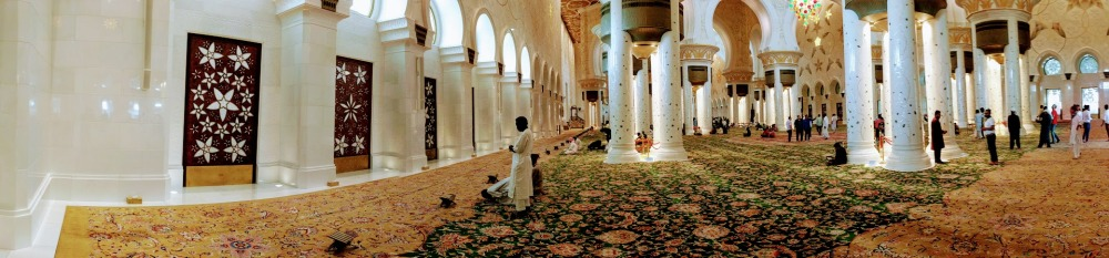 hotel travel blogs dot com aBU DHABI inside mosque